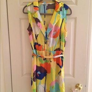 Bright floral print summer dress